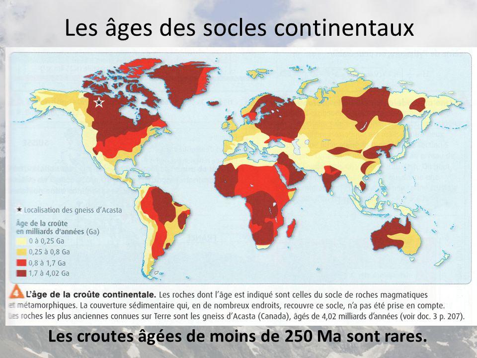 Les âges des socles continentaux