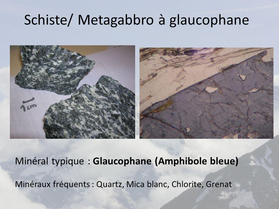 Schiste/ Metagabbro à glaucophane