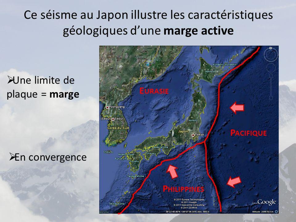 Ce séisme au Japon illustre les caractéristiques géologiques d'une marge active