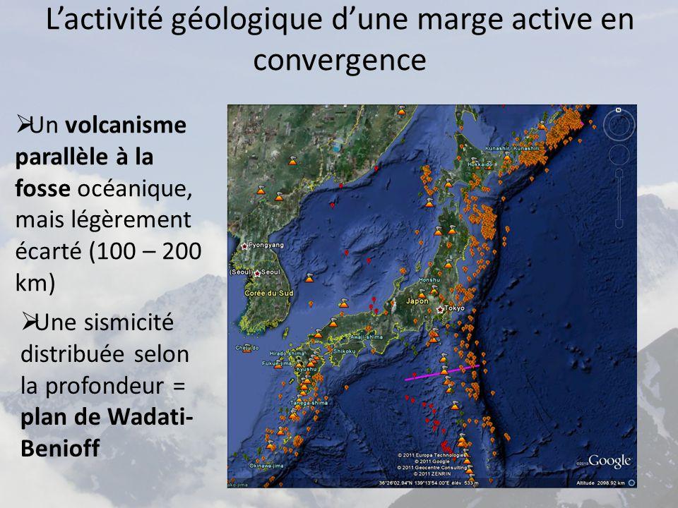 L'activité géologique d'une marge active en convergence