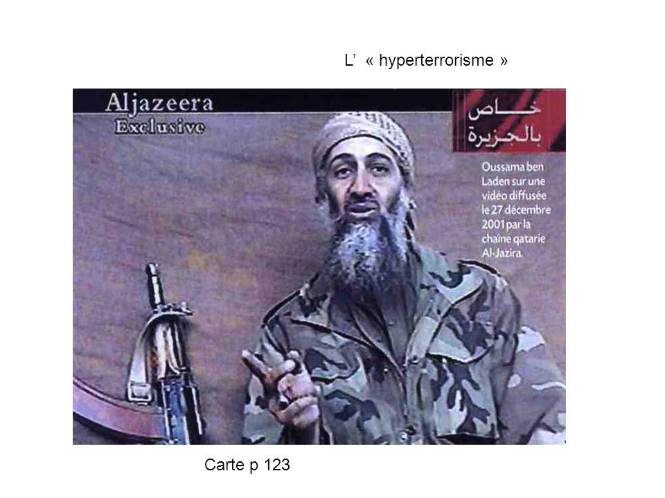 L' « hyperterrorisme » Carte p 123