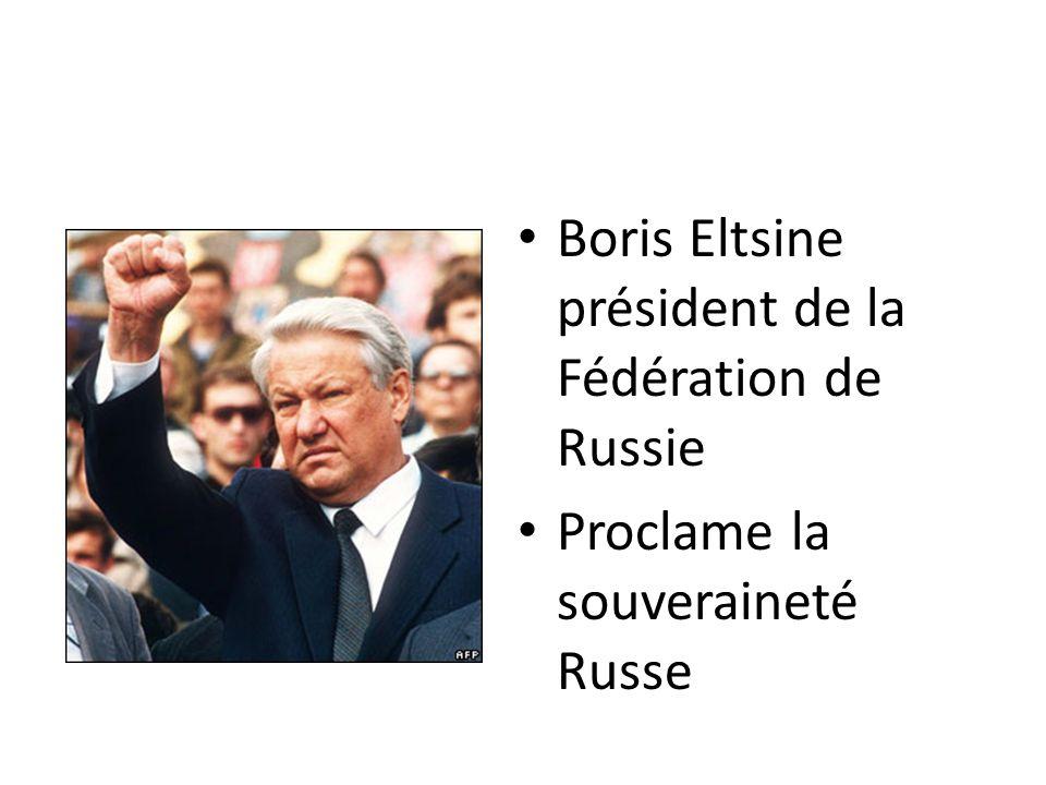 Boris Eltsine président de la Fédération de Russie