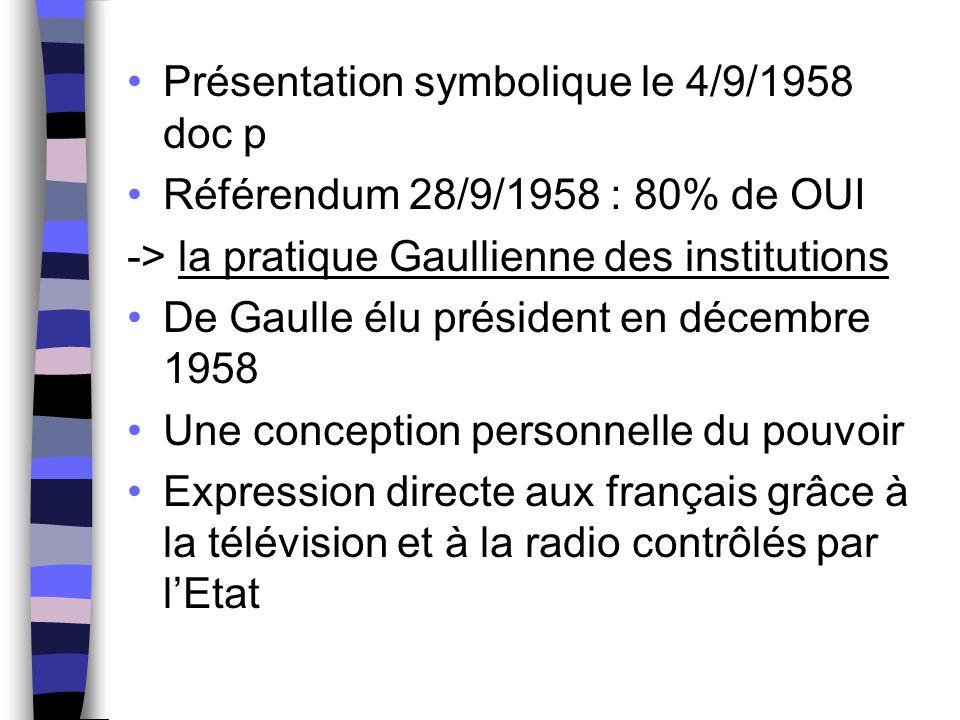 Présentation symbolique le 4/9/1958 doc p