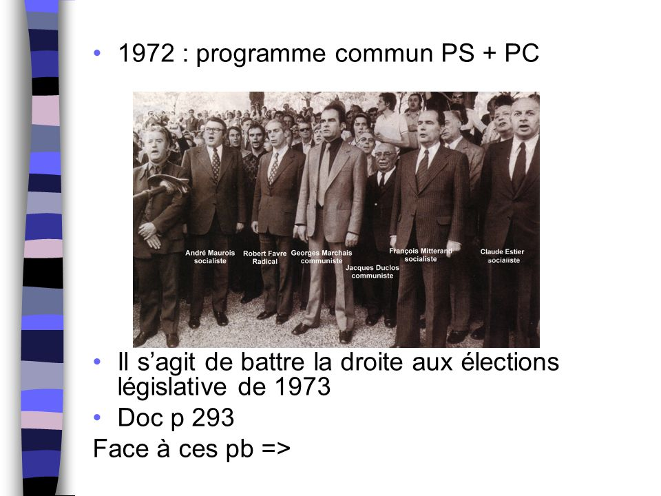 1972 : programme commun PS + PC