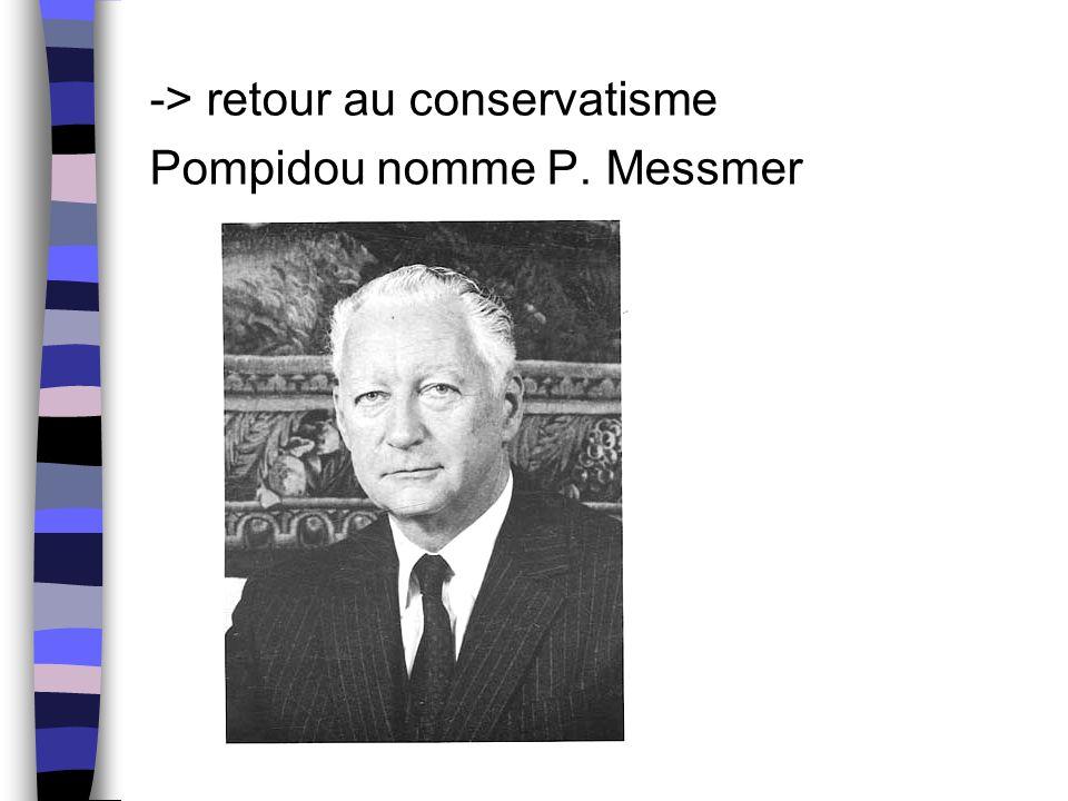 -> retour au conservatisme