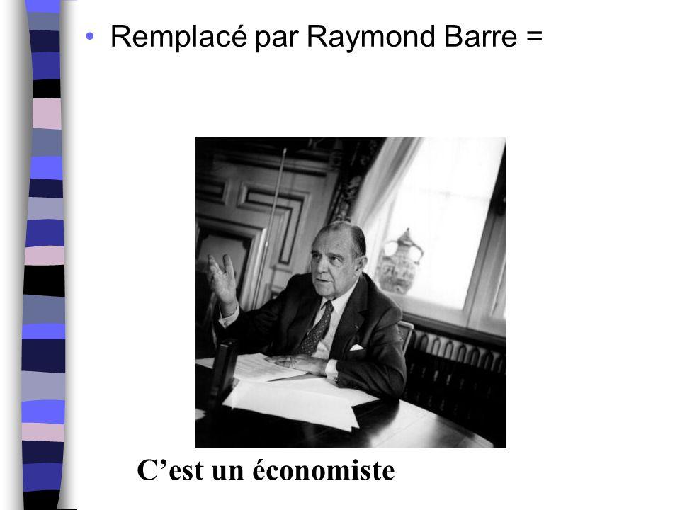 Remplacé par Raymond Barre =