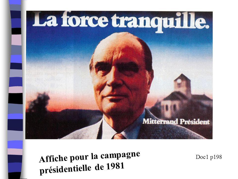 Affiche pour la campagne présidentielle de 1981