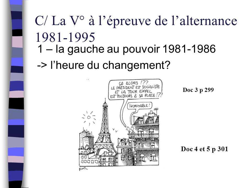 C/ La V° à l'épreuve de l'alternance 1981-1995