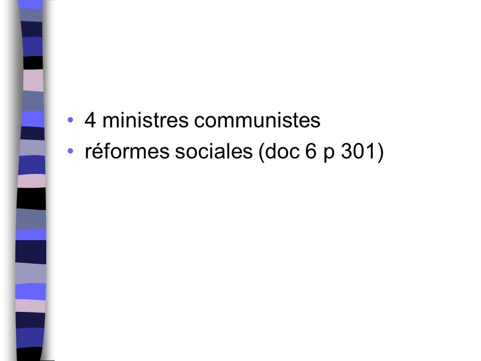 4 ministres communistes