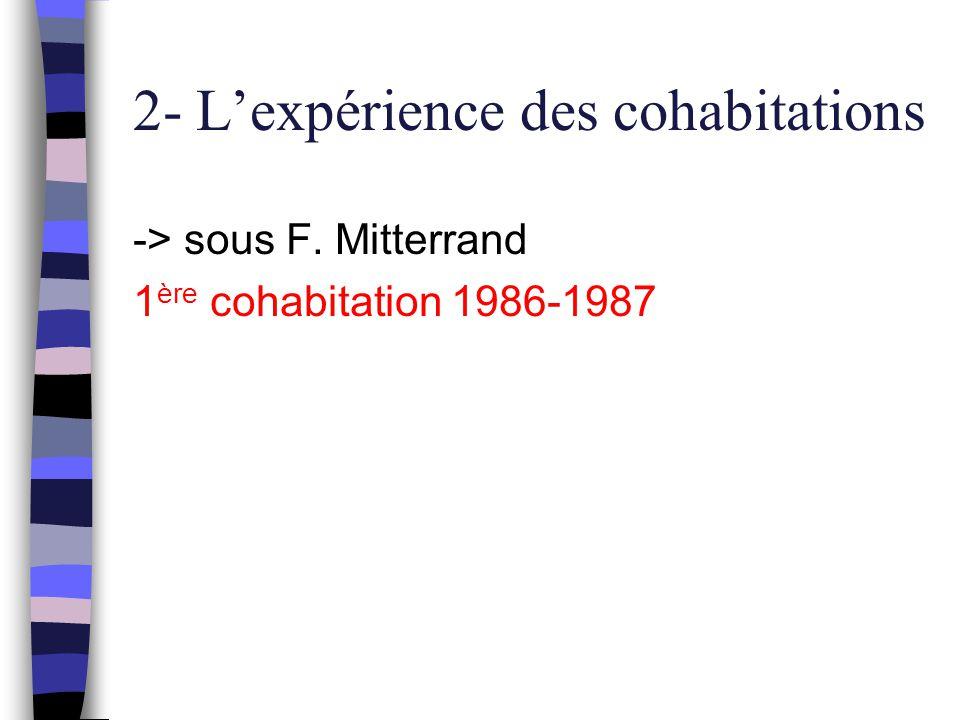2- L'expérience des cohabitations