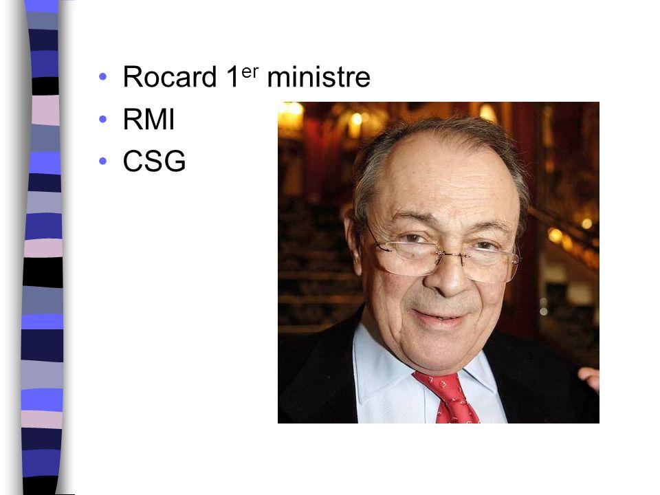 Rocard 1er ministre RMI CSG