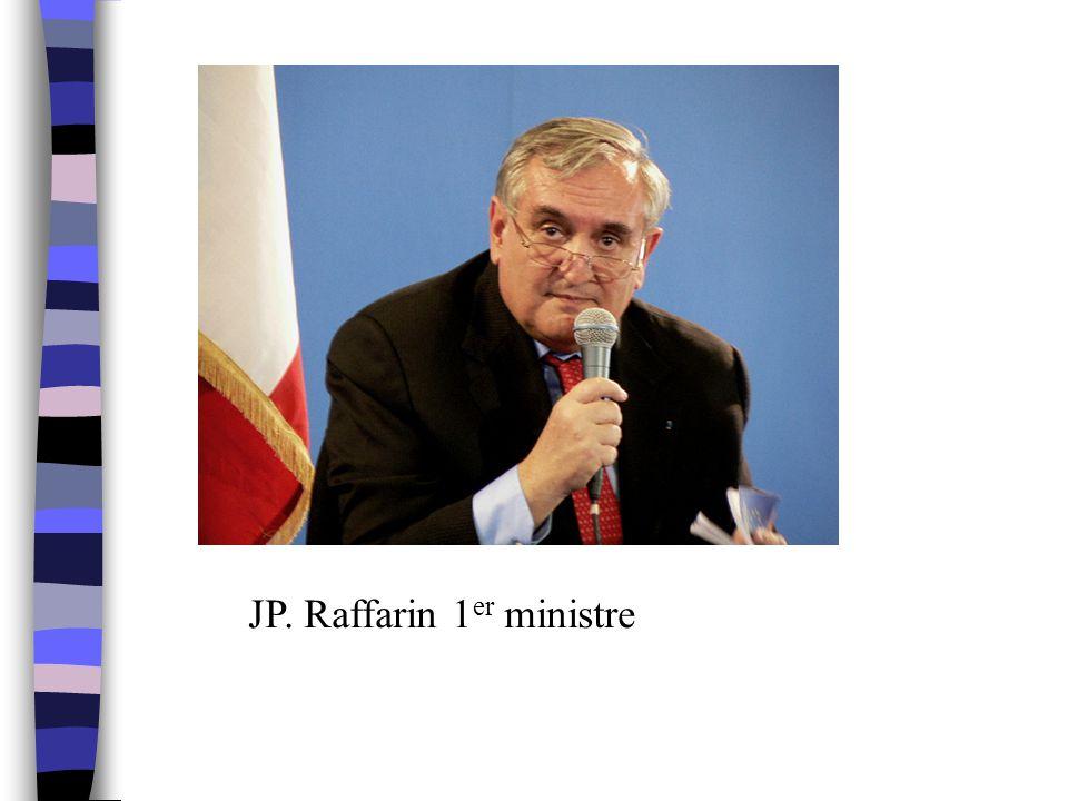 JP. Raffarin 1er ministre