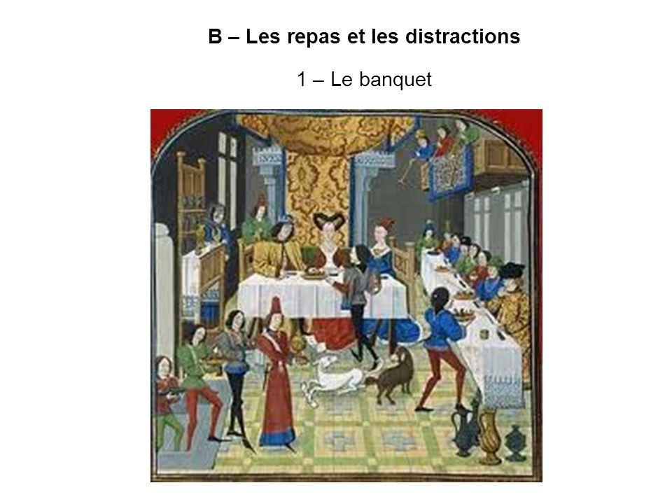 B – Les repas et les distractions 1 – Le banquet