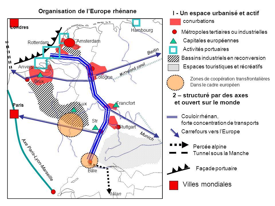 Villes mondiales Organisation de l'Europe rhénane