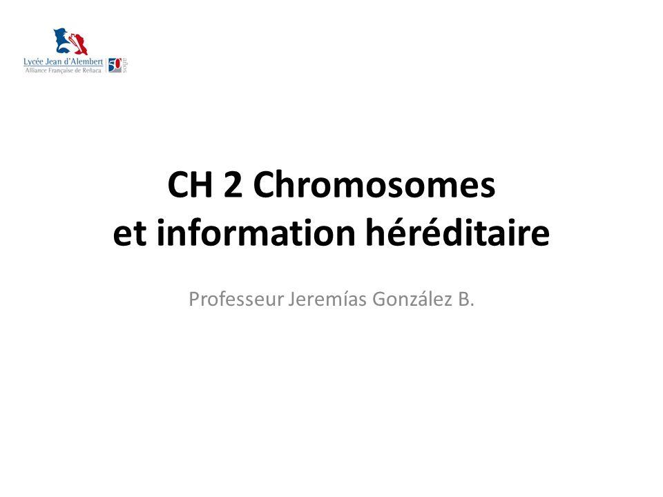 CH 2 Chromosomes et information héréditaire