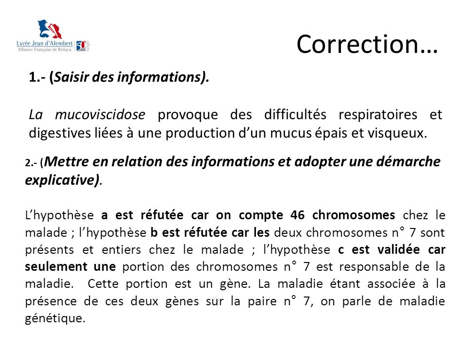 Correction… 1.- (Saisir des informations).