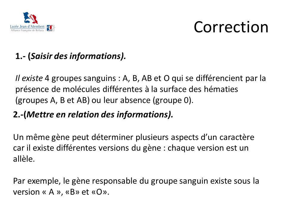 Correction 1.- (Saisir des informations).