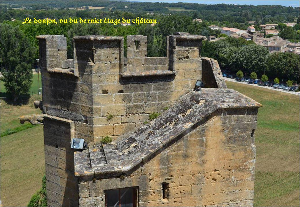 Le donjon, vu du dernier étage du château .