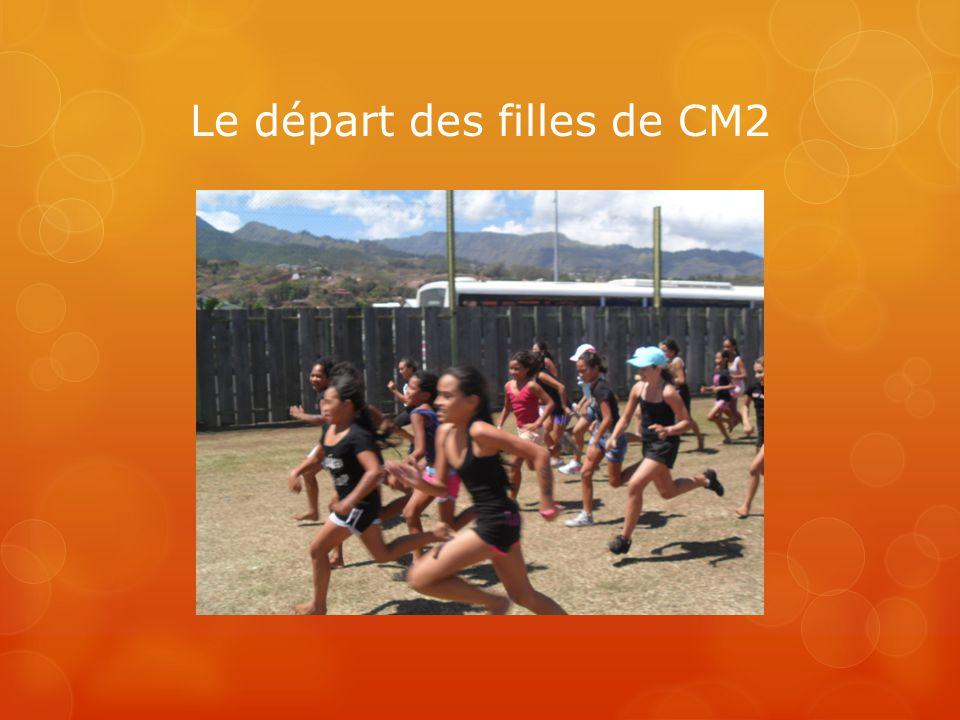 Le départ des filles de CM2