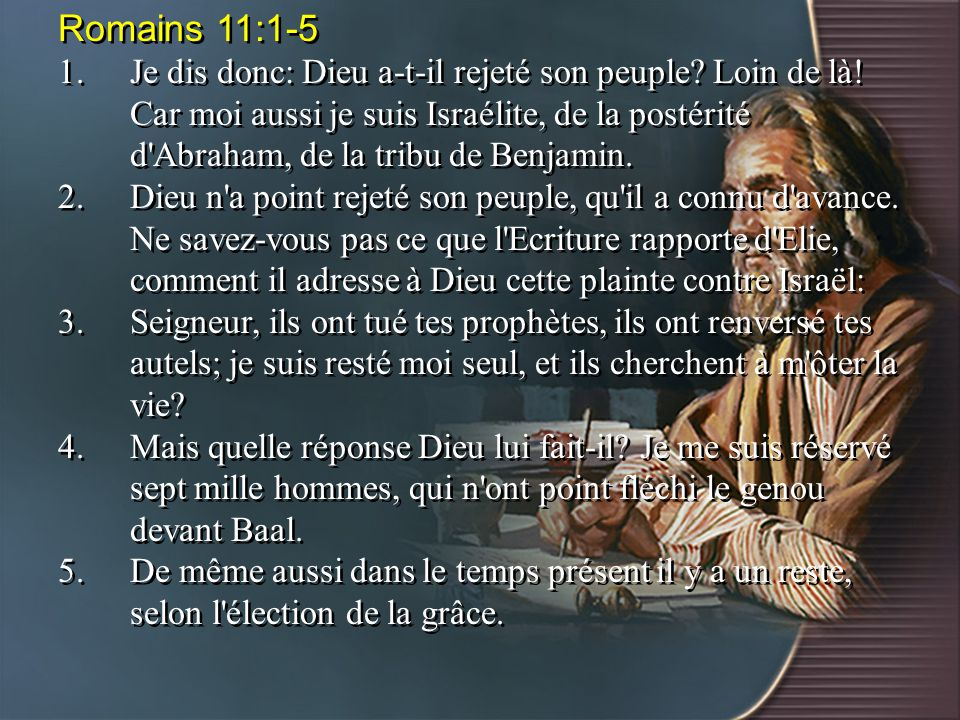 Romains 11:1-5