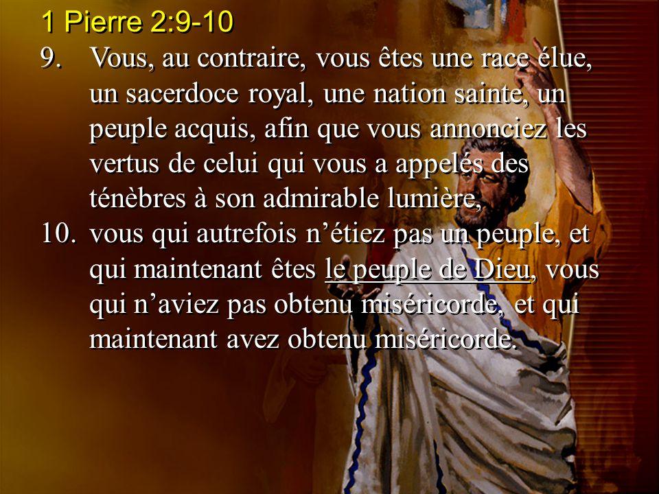1 Pierre 2:9-10