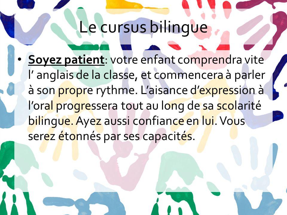 Le cursus bilingue