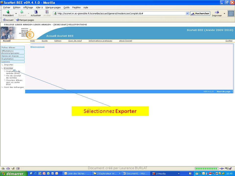 Sélectionnez Exporter