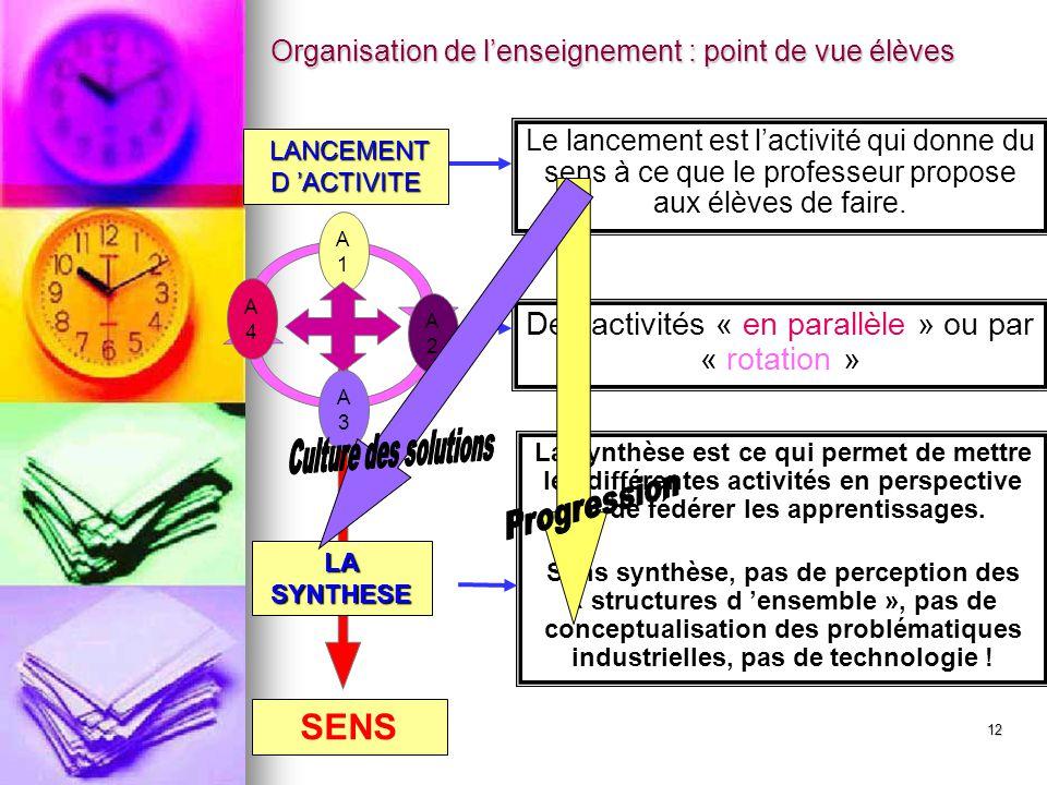 Des activités « en parallèle » ou par « rotation »