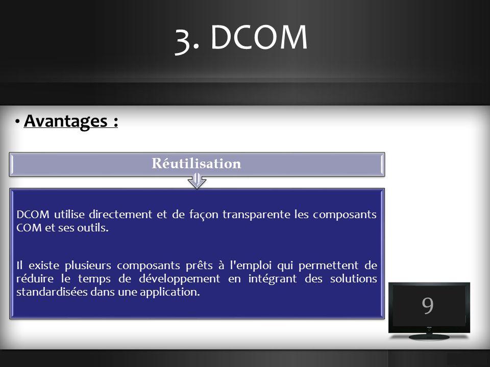 3. DCOM 9 Avantages : Réutilisation