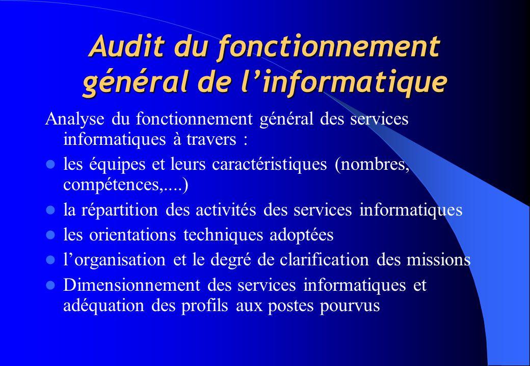 audit et schema directeur informatique