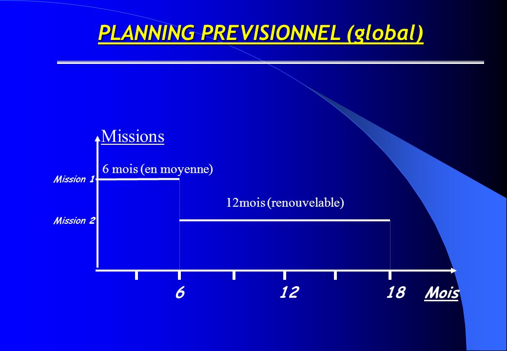 PLANNING PREVISIONNEL (global)
