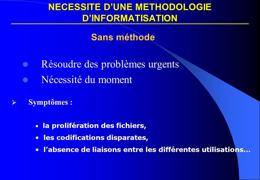NECESSITE D'UNE METHODOLOGIE D'INFORMATISATION