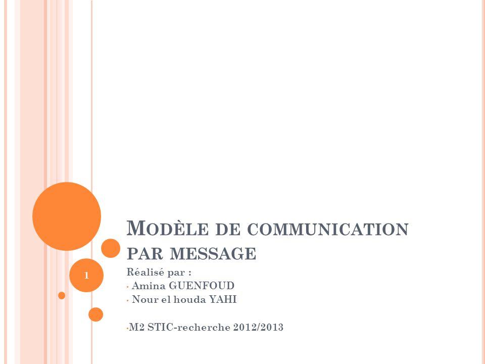Modèle de communication par message