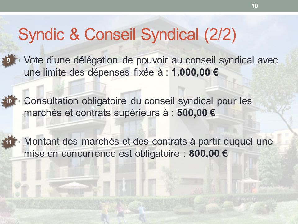 Syndic & Conseil Syndical (2/2)