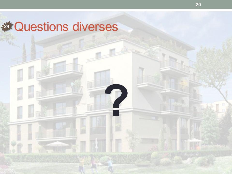Questions diverses 24