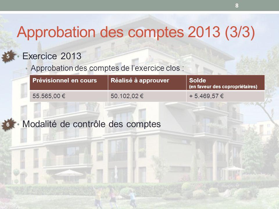 Approbation des comptes 2013 (3/3)