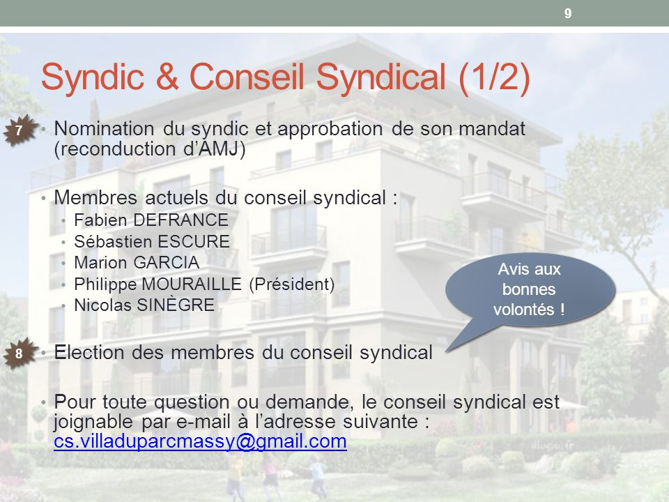 Syndic & Conseil Syndical (1/2)