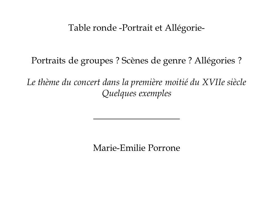 Table ronde -Portrait et Allégorie-