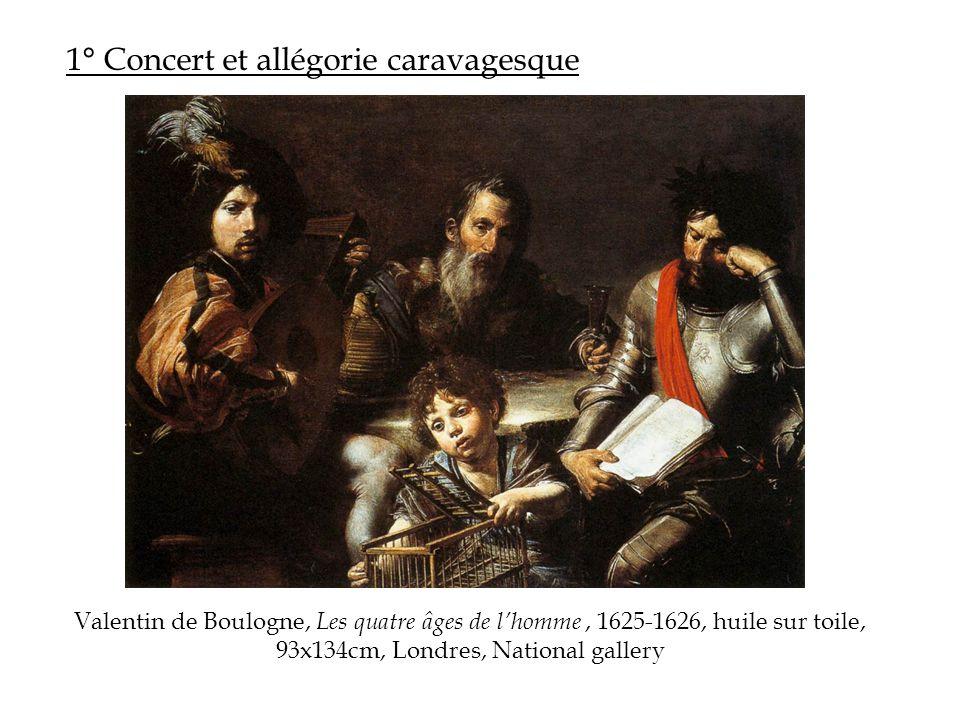 1° Concert et allégorie caravagesque