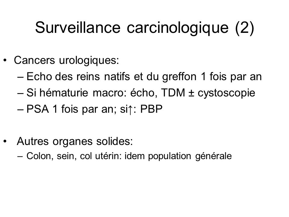 Surveillance carcinologique (2)