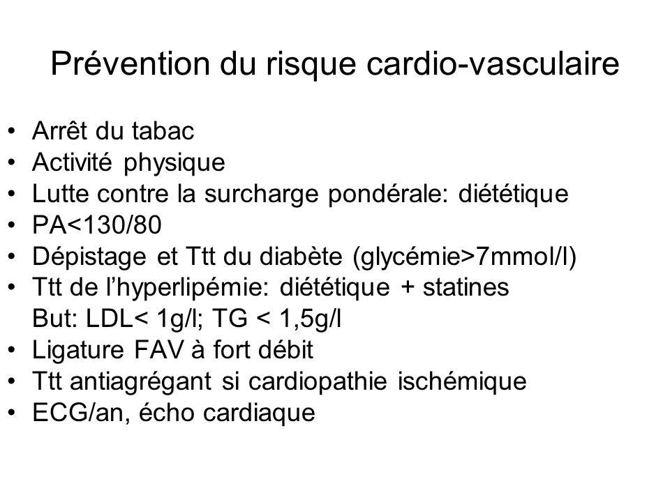 Prévention du risque cardio-vasculaire