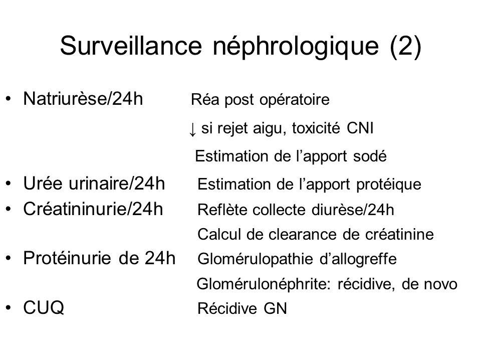 Surveillance néphrologique (2)