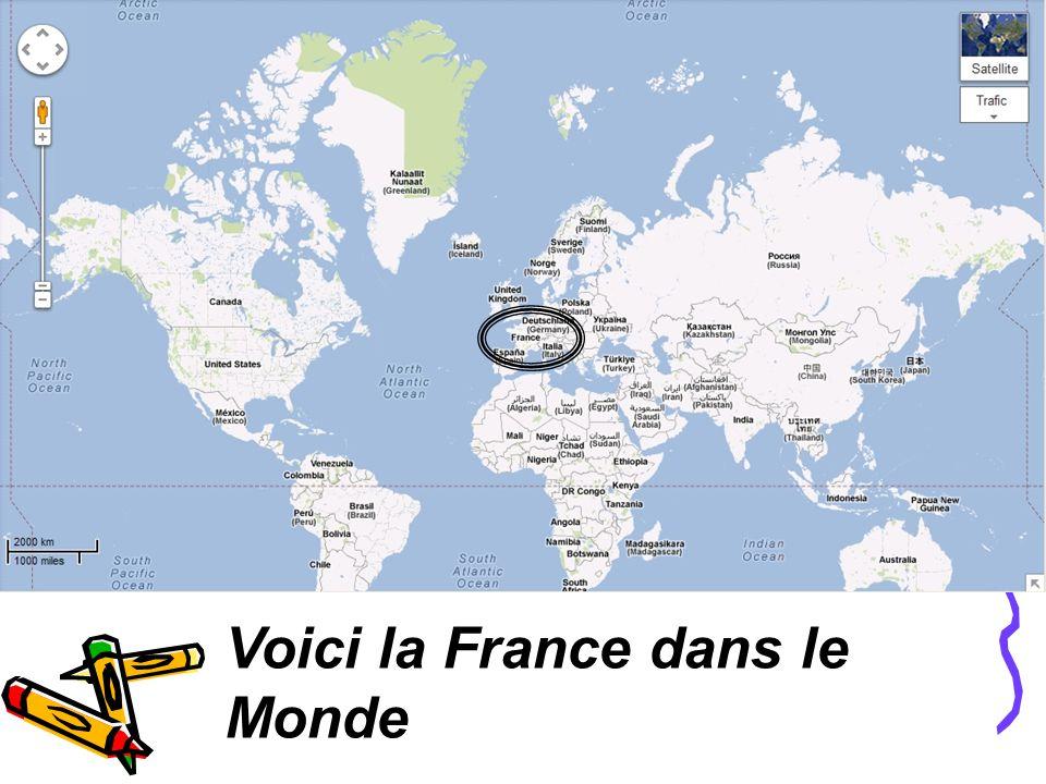Voici la France dans le Monde