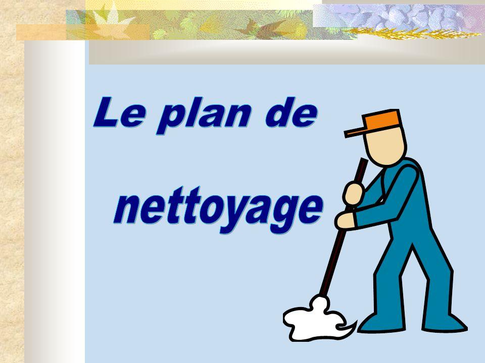 Le plan de nettoyage