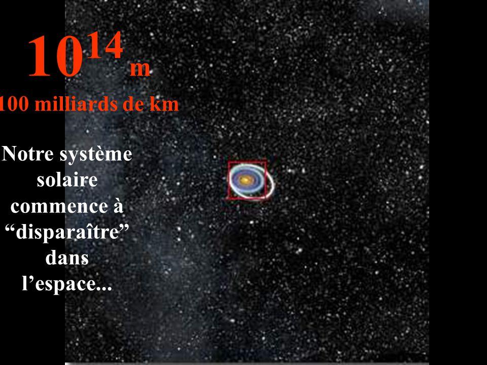 Notre système solaire commence à disparaître dans l'espace...