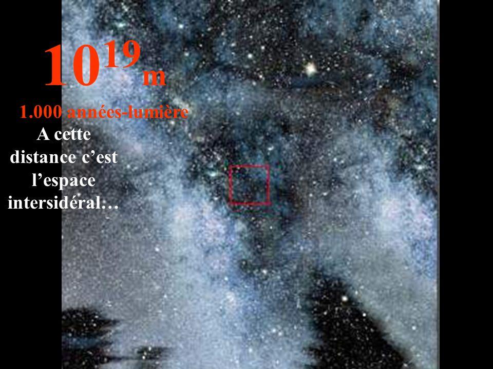A cette distance c'est l'espace intersidéral…
