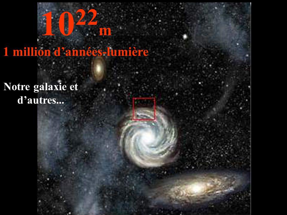 1 million d'années-lumière Notre galaxie et d'autres...