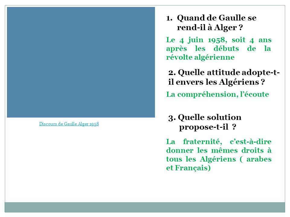 Quand de Gaulle se rend-il à Alger