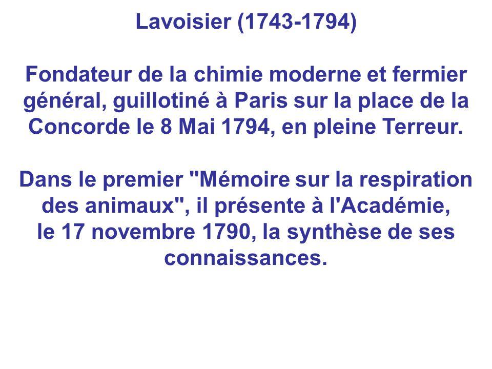 le 17 novembre 1790, la synthèse de ses connaissances.