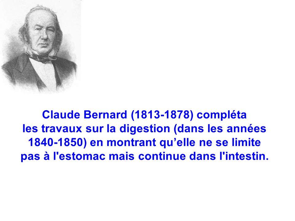 Claude Bernard (1813-1878) compléta